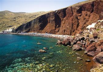 Santorini Beach Exploration with Manolios Boat