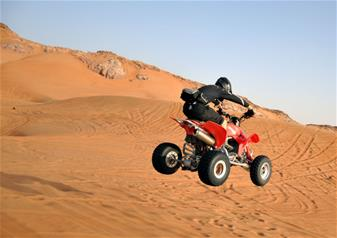 Half day Desert Safari with Quad Bike from Abu Dhabi