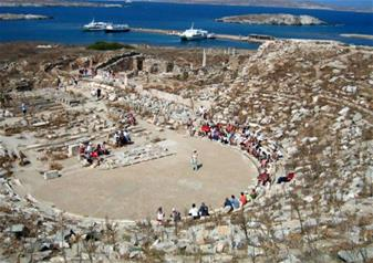 Full Day Cruise Tour to Ancient Delos and Mykonos South Beaches