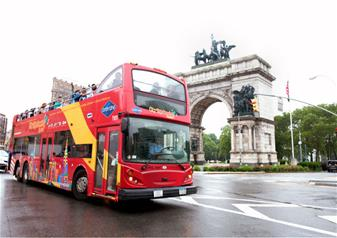 Hop-on Hop-off New York All Around Town 48 Hour Tour with 1 Attraction