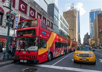 New York By Night Bus Tour with 1 Attraction Ticket