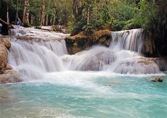 Half Day Tour of Tad Sea Waterfall with Elephant Riding in Luang Prabang